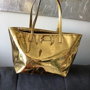 Kate Spade metallic gold harmony metro purse